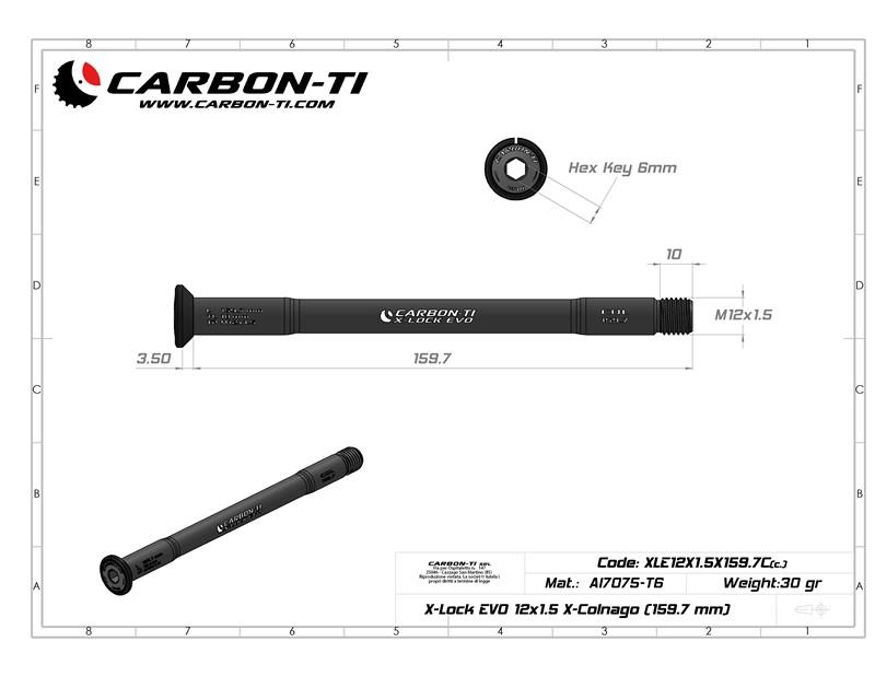 X-Lock EVO 12x1.5 X-Colnago 159.7 mm