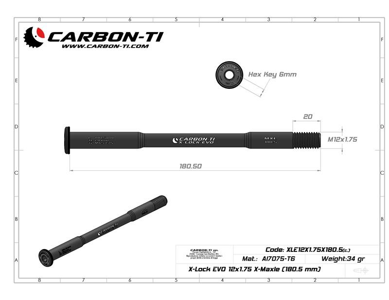 X-Lock EVO 12x1.75 X-Maxle 180.5 mm