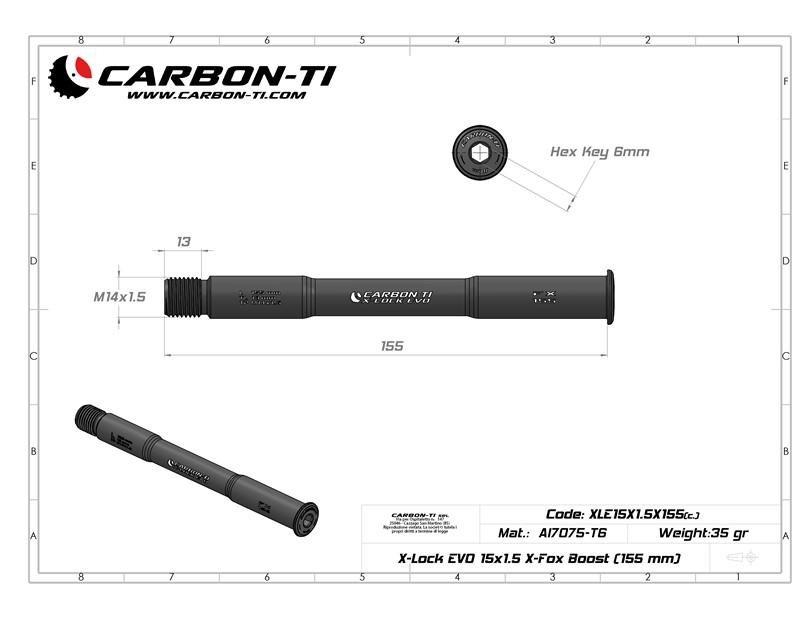 X-Lock EVO 15x1.5 X-Fox 155 mm